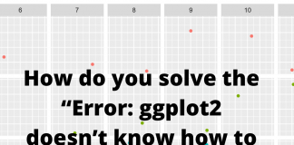 How do you solve the Error: ggplot2 doesn't know how to deal with data of class uneval