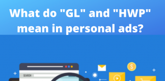 "What do ""GL"" and ""HWP"" mean in personal ads"