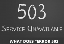 "What does ""Error 503 Backend fetch failed"" mean"