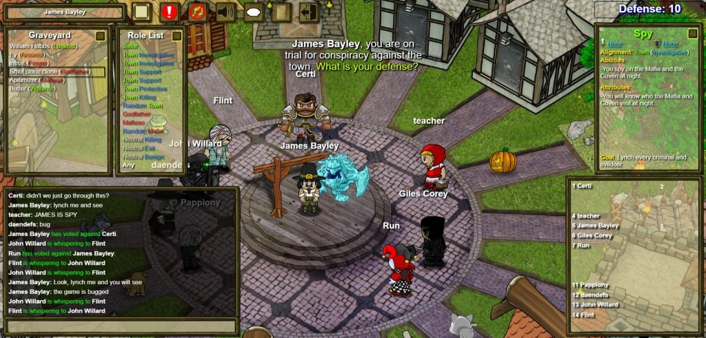 How To Whisper In The Town Of Salem