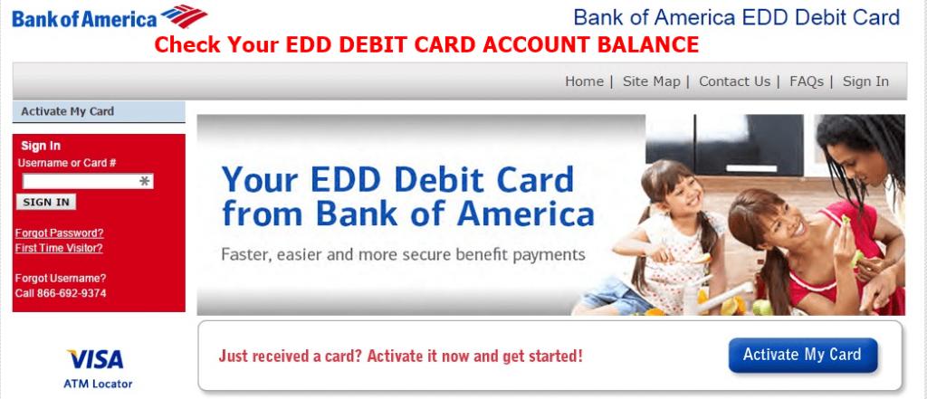 Bank of America EDD Card Sign in & Login | BOFA