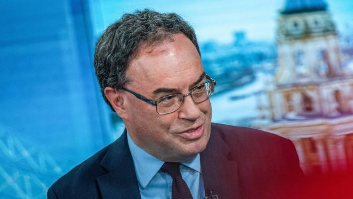 Andrew Bailey cheief of Bank of England views on recession on record