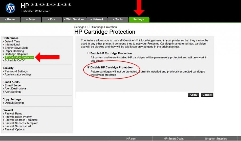 HP Printer Ink Cartridge Error