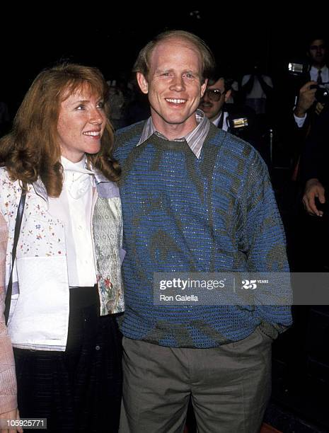 Ron Howard with Jocelyn Howard